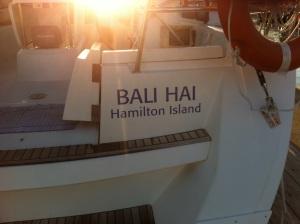 Our yacht Bali Hai